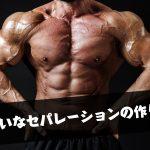 筋肉のセパレーションをくっきりさせるために意識すべき3つのポイント